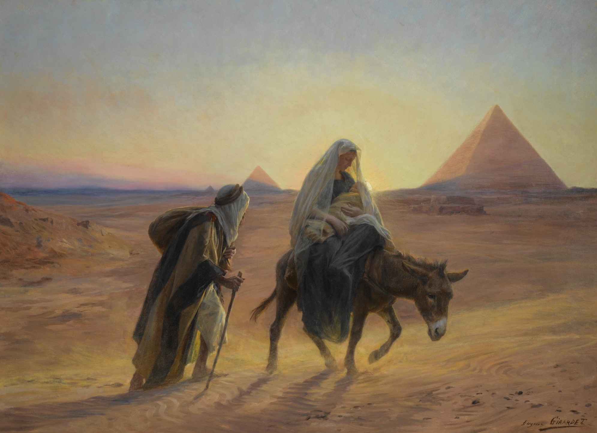 Mary and Joseph Leave Egypt with the Baby Jesus