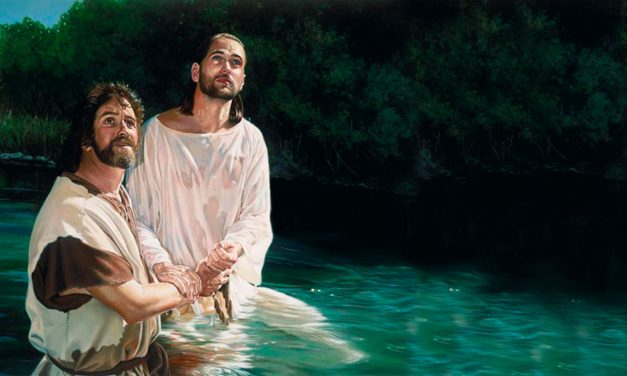 Jesus and John the Baptist Baptize