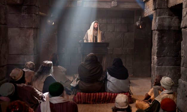 Jesus Reads in the Nazareth Synagogue