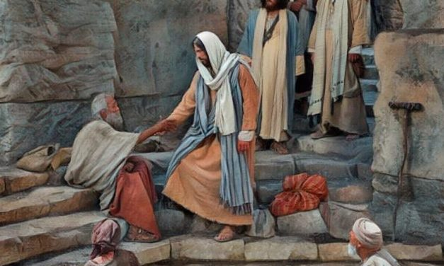 Jesus Heals A Lame Man At Pool of Bethesda