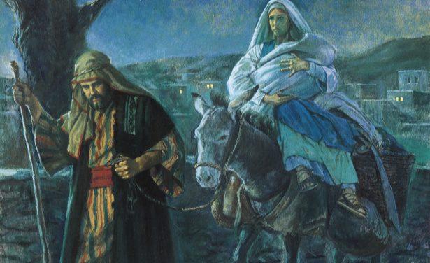 Mary, Joseph and Jesus flee to Egypt