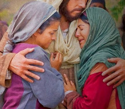 Jesus Comforts Mary and Martha
