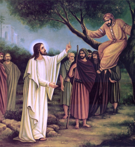 Jesus' Dialogue with Zacchaeus